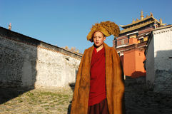 Tibetan monk Royalty Free Stock Photo