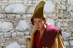 Tibetan monk Stock Images