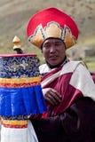 Tibetan monk Arkivbild
