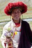 Tibetan monk Arkivfoton