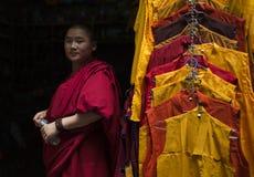 tibetan monk Arkivfoto