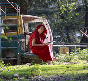 Tibetan monk from India – Dharamshala. Royalty Free Stock Photography