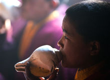 Tibetan Monk, Nepal Royalty Free Stock Photos