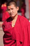 Tibetan Monk at Rumtek monastery Royalty Free Stock Images