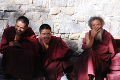 Tibetan monks Stock Photography