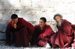 Tibetan monks Stock Photos