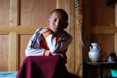 Tibetan monks Stock Image