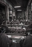 Tibetan Monks - Ganden Monastery - Tibet Stock Images