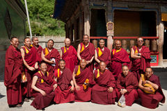 Tibetan Monks at Kumbum Monastery Stock Image