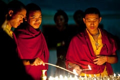 Tibetan monks, Nepal Royalty Free Stock Image