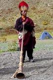 Tibetan monnik Royalty-vrije Stock Foto's