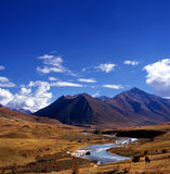 Tibetan Mountain lake Stock Photo