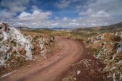 Tibetan mountain pass Royalty Free Stock Photos