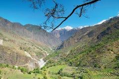 Tibetan mountain's landscape Stock Image