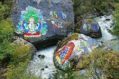 Tibetan Mountain Stream Stock Photography
