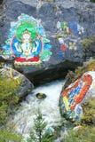 Tibetan mountain stream Royalty Free Stock Photo