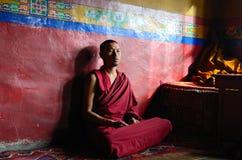 Tibetan munk Royaltyfria Foton