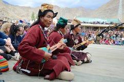 Tibetan musicians Royalty Free Stock Image