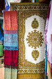 Tibetan national shawls in Dharamsala, India Royalty Free Stock Photography