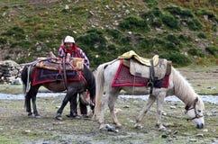 Tibetan nomad Royalty Free Stock Image