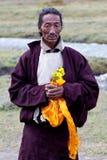 Tibetan nomad Stock Image