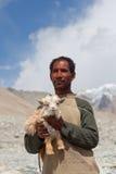 Tibetan nomad, Ladakh Stock Images