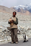 Tibetan nomad, Ladakh Stock Photo
