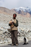 Tibetan nomad, Ladakh Royalty Free Stock Photo