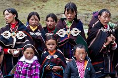 Tibetan nomads Stock Photos