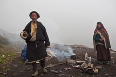 Tibetan nomads Royalty Free Stock Photos