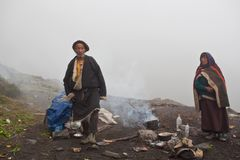 Tibetan nomads in Dolpo, Nepal Stock Images