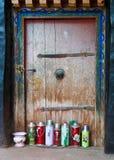 Tibetan oil flasks Royalty Free Stock Photos