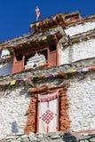 Tibetan old monastery in himalayas mountain in Manang village. Annapurna area, Himalaya, Nepal. Tibetan old monastery in himalayas mountain, Manang village royalty free stock image