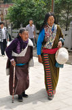 Tibetan old women Royalty Free Stock Image