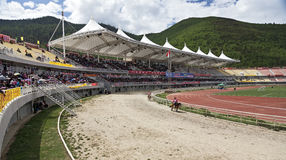 Tibetan Paardenrennen Royalty-vrije Stock Foto