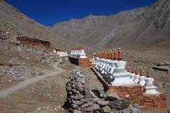 Tibetan pagodas. Pagodas in the mountain Royalty Free Stock Photo