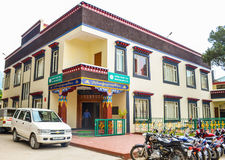 Tibetan Parliament-in-Exile. Colorful Building of Tibetan Parliament-in-Exile in mcleod ganj, dharamsala, Himachal Pradesh, India Royalty Free Stock Photography