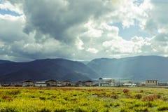 Tibetan pasture. Picturesque landscape, the earth poetic, beautiful picture, beautiful scenery, delightful Tibetan pasture Royalty Free Stock Image
