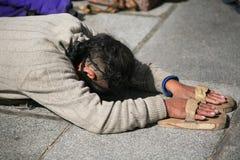 Tibetan pelgrim royalty-vrije stock afbeeldingen