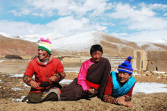 Tibetan people royalty free stock photography