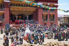 Tibetan people at ceremony Royalty Free Stock Photography