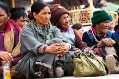 Tibetan people enjoying folk festival performance Royalty Free Stock Images