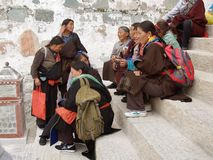 Tibetan people in Lhasa Stock Photography