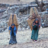 Tibetan people in Nepal Stock Photo