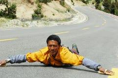 Tibetan pilgrim Royalty Free Stock Image