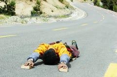 Tibetan pilgrim Stock Photos