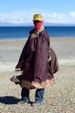 Tibetan Pilgrim Royalty Free Stock Images