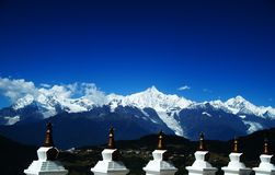 Tibetan pilgrimage Mountain Stock Images