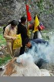 Tibetan pilgrims Royalty Free Stock Image