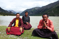 Tibetan pilgrims Royalty Free Stock Photography